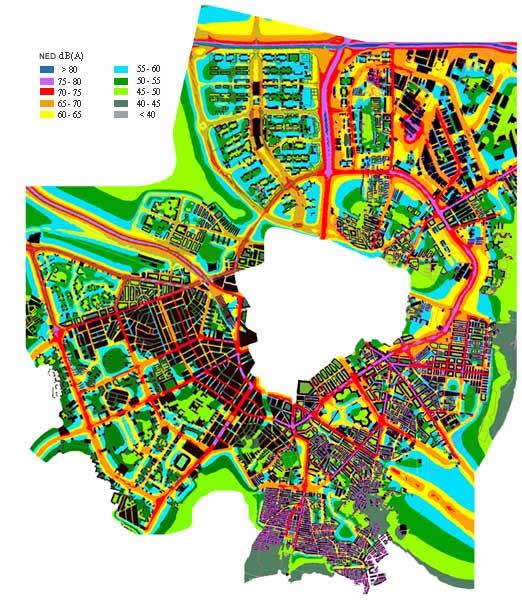 Mapa del ruido de Zaragoza