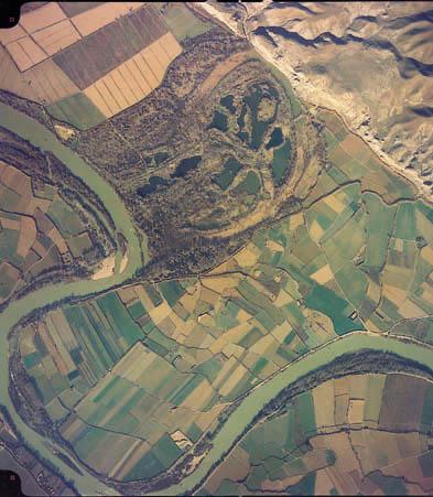 Foto aérea del galacho