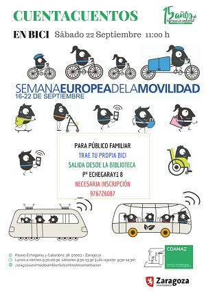 Cuentacuentos en bici: ¡La ciudad, sin mi coche! ¡...