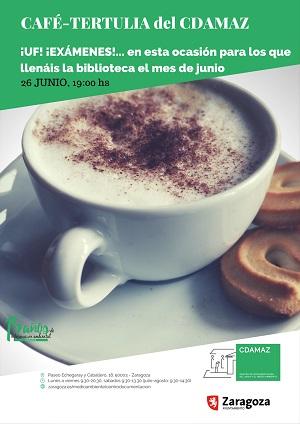 Café tertulia del CDAMAZ. ¡UF! ¡EXÁMENES!