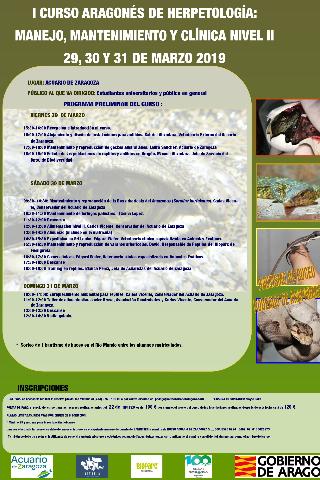 I Curso Herpetología: Manejo, Mantenimiento y Clín...