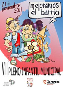 Cartel de VIII Pleno Infantil Municipal