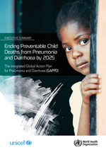 Ending Preventable Child Deaths from Pneumonia and Diarrhoea by 2025. The integrated Global Action Plan for Pneumonia and Diarrhoea (GAPPD). Executive summary
