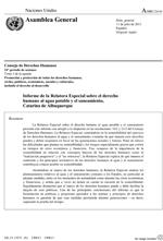 Informe de la Relatora Especial sobre el derecho humano al agua potable y el saneamiento, Catarina de Albuquerque