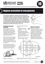 Hygiene promotion in emergencies. Updated WHO/WEDC Technical Notes on WASH in Emergencies