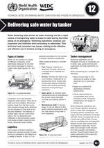 Delivering safe water by tanker. Updated WHO/WEDC Technical Notes on WASH in Emergencies