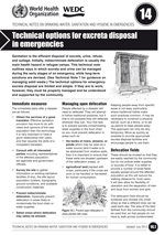 Technical options for excreta disposal in emergencies. Updated WHO/WEDC Technical Notes on WASH in Emergencies