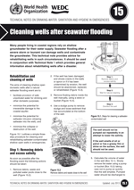 Cleaning wells after seawater flooding. Updated WHO/WEDC Technical Notes on WASH in Emergencies