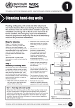 Cleaning hand-dug wells. Updated WHO/WEDC Technical Notes on WASH in Emergencies