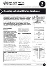 Cleaning and rehabilitating boreholes. Updated WHO/WEDC Technical Notes on WASH in Emergencies