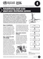 Rehabilitating small-scale piped water distribution systems. Updated WHO/WEDC Technical Notes on WASH in Emergencies