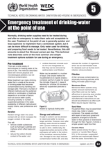 Emergency treatment of drinking-water at the point of use. Updated WHO/WEDC Technical Notes on WASH in Emergencies
