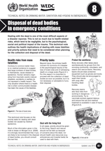 Disposal of dead bodies in emergency conditions. Updated WHO/WEDC Technical Notes on WASH in Emergencies