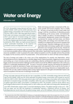 Information brief on Water and Energy