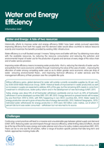 Information brief on Water and Energy efficiency