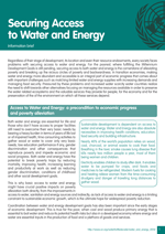 Information brief on Securing Access to Water and Energy