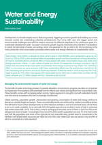 Information brief on Water and Energy Sustainability