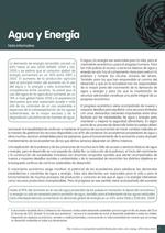 Nota informativa sobre agua y energía