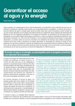 Nota informativa sobre garantizar el acceso al agua y la energ�a