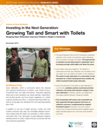 Investing in the Next Generation: Growing Tall and Smart with Toilets. Stopping Open Defecation Improves Children's Height in Cambodia