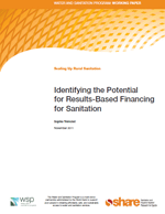 Identifying the Potential for Results-Based Financing for Sanitation