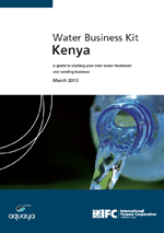 Water Business Kit Kenya. A guide to starting your own water treatment and vending business