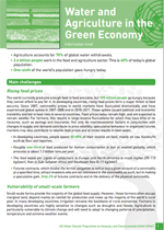 Water and the Green Economy: Information Briefs. Water and Agriculture in the Green Economy