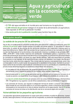 (El) agua y la econom�a verde: notas informativas. Agua y agricultura en la econom�a verde