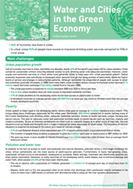 Water and the Green Economy: Information Briefs. Water and Cities in the Green Economy