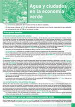 (El) agua y la econom�a verde: notas informativas. Agua y ciudades  en la econom�a verde
