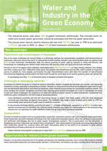 Water and the Green Economy: Information Briefs. Water and Industry in the Green Economy
