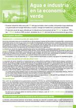 (El) agua y la econom�a verde: notas informativas. Agua e industria en la econom�a verde
