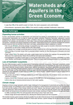 Water and the Green Economy: Information Briefs. Watersheds and aquifers in the Green Economy
