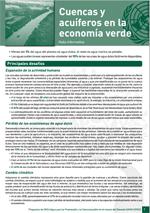 (El) agua y la econom�a verde: notas informativas. Cuencas y acu�feros en la econom�a verde