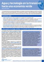 (El) agua y la econom�a verde: notas informativas. Agua y tecnolog�a en la transici�n hacia una econom�a verde