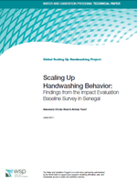 Scaling Up Handwashing Behaviour: Findings from the Impact Evaluation Baseline Survey in Senegal