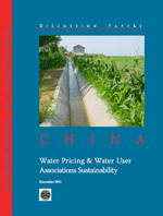 China. Water Pricing and Water User Associations Sustainability