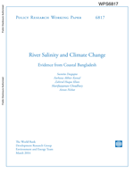 River Salinity and Climate Change: evidence from coastal Bangladesh