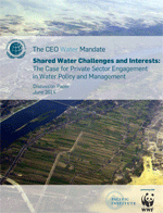 Shared Water Challenges and Interests: The Case for Private Sector Engagement in Water Policy and Management