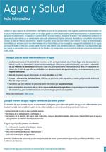 Nota informativa sobre agua y salud