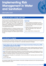 Information brief on Implementing Risk Management in Water and Sanitation