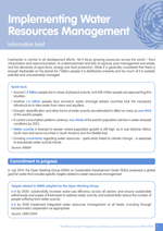 Information brief on Implementing Water Resources Management