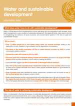 Information Brief on Water and Sustainable Development