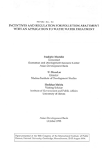 Incentives and Regulation for Pollution Abatement with an Application to Waste Water Treatment