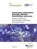 Advancing adaptation through climate information services. Results of a global survey on the information requirements of the financial sector