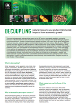 Decoupling natural resource use and environmental impacts from economic growth. Fact Sheet
