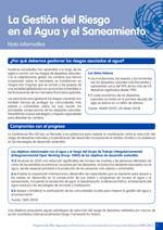Nota informativa sobre implementación de gestión de riesgos en materia de agua y saneamiento