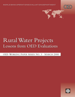 Rural Water Projects. Lessons from OED Evaluations