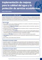 Nota informativa sobre implementación de mejoras para la calidad del agua y protección de servicios ecosistémicos