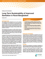 Long Term Sustainability of Improved Sanitation in Rural Bangladesh